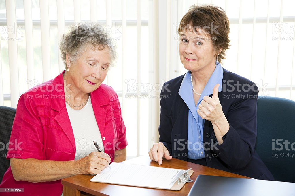 Businesswoman Made a Sale royalty-free stock photo
