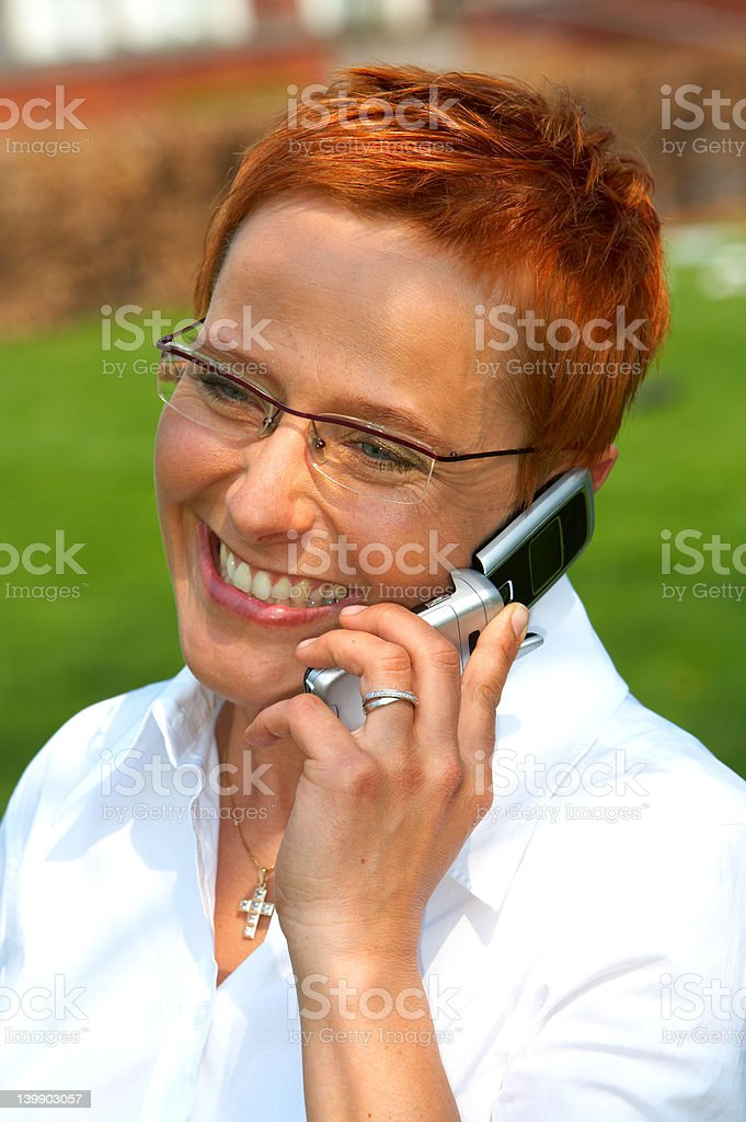Businesswoman making a phone call. royalty-free stock photo