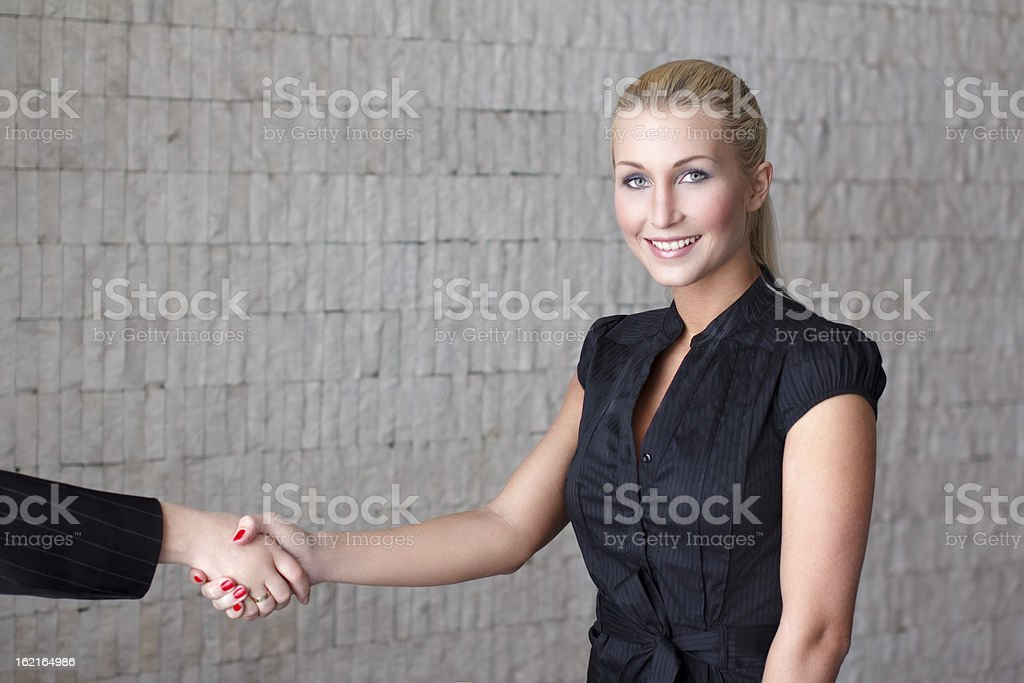 Businesswoman making contract royalty-free stock photo