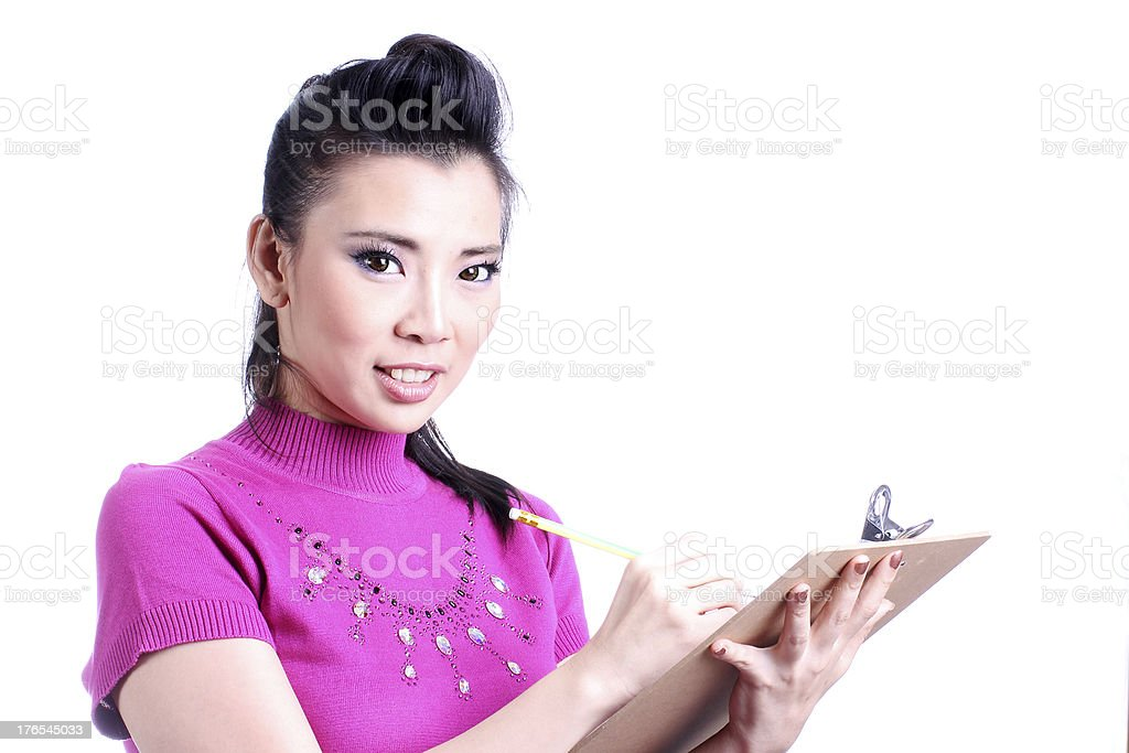 Businesswoman note royalty-free stock photo