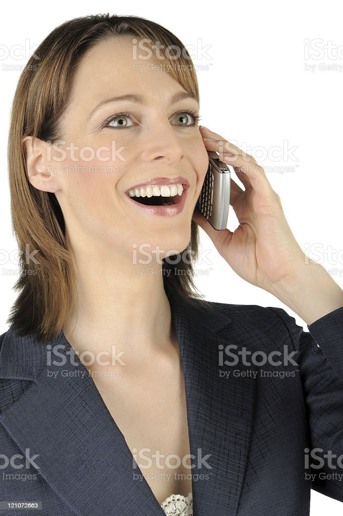 Businesswoman On Cell Phone royalty-free stock photo