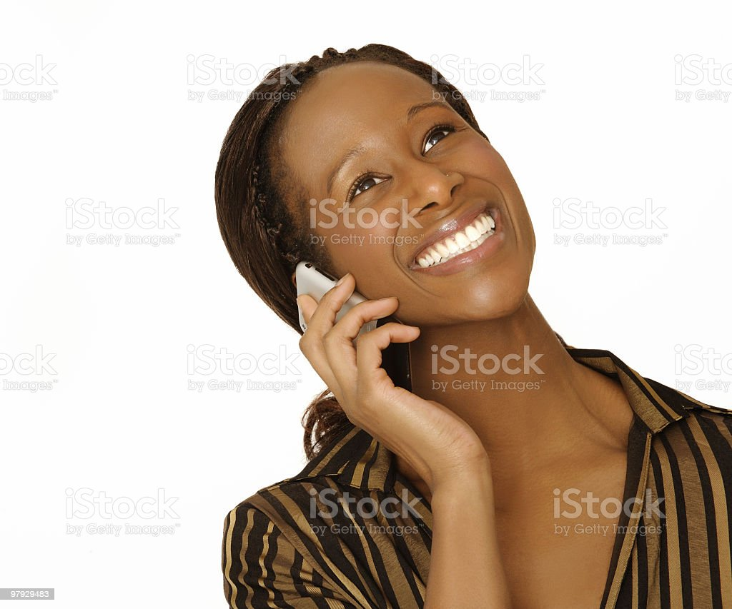 businesswoman on mobile phone royalty-free stock photo