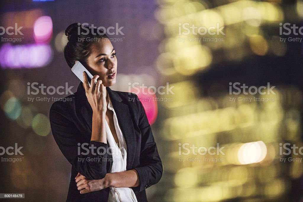 Businesswoman on rooftop royalty-free stock photo