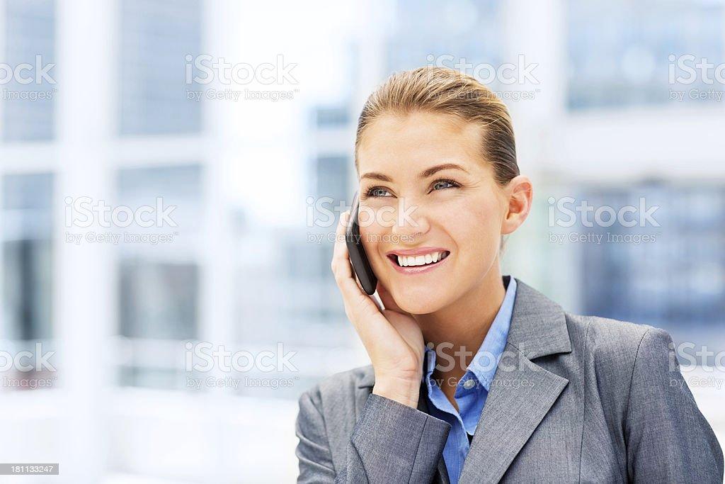 Businesswoman On Smartphone royalty-free stock photo