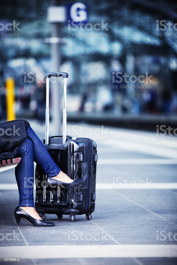 Businesswoman on the move royalty-free stock photo