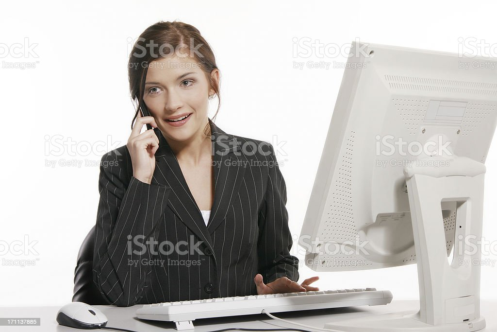 Businesswoman on the phone royalty-free stock photo