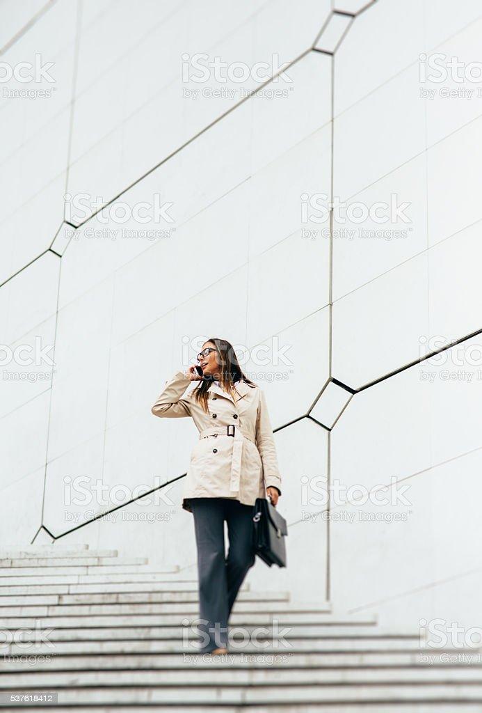 Businesswoman on the phone stock photo