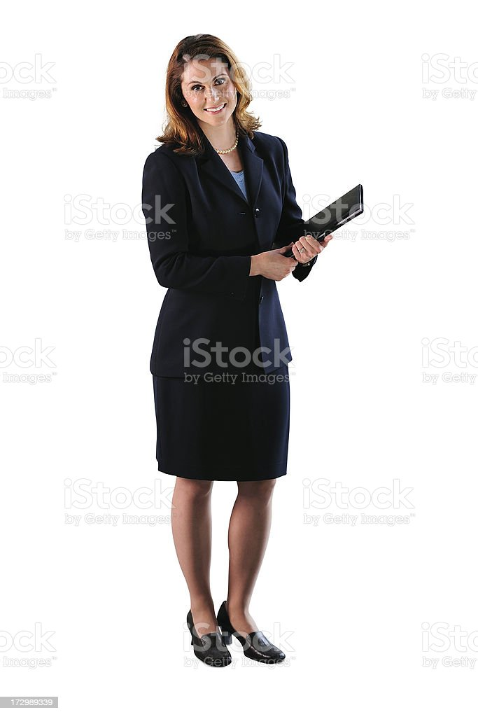 Businesswoman on White royalty-free stock photo