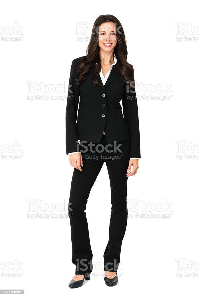 Businesswoman on White stock photo