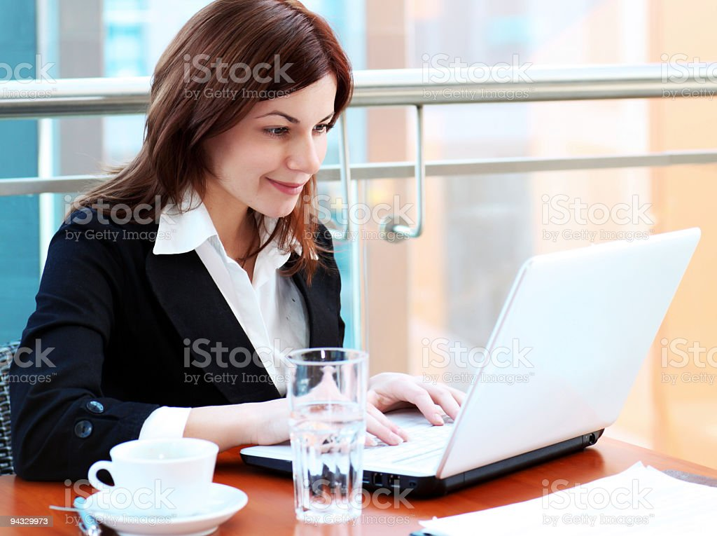 Businesswoman on work. royalty-free stock photo