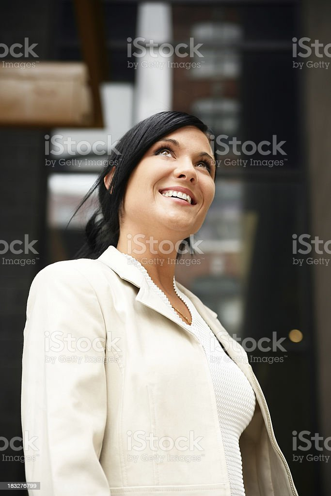 Businesswoman outdoors royalty-free stock photo