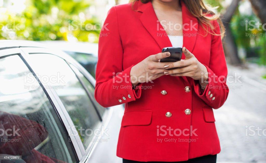 Businesswoman, Phone Call stock photo