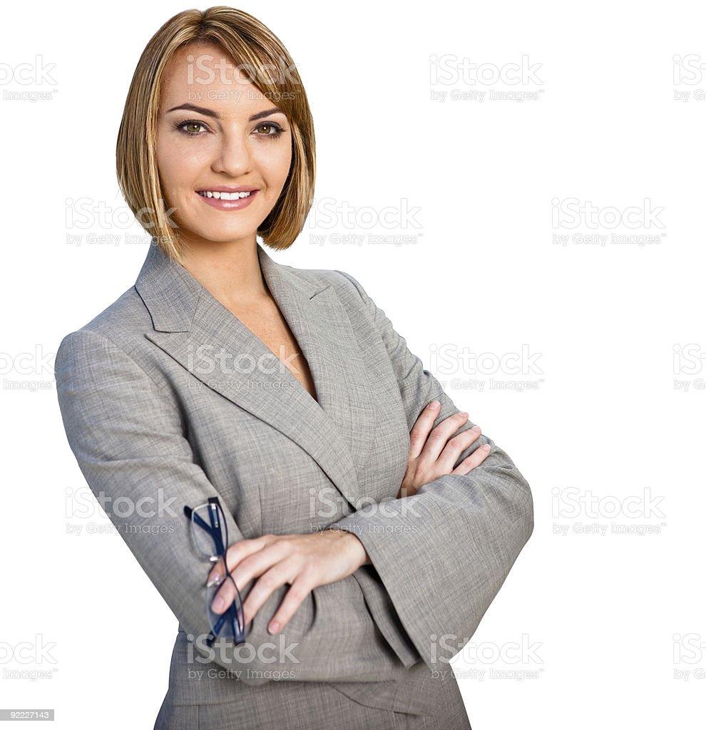 Geschäftsfrau Porträt Isoliert Lizenzfreies stock-foto