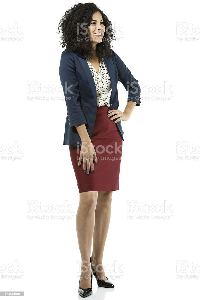 Businesswoman posing with hand on hip royalty-free stock photo