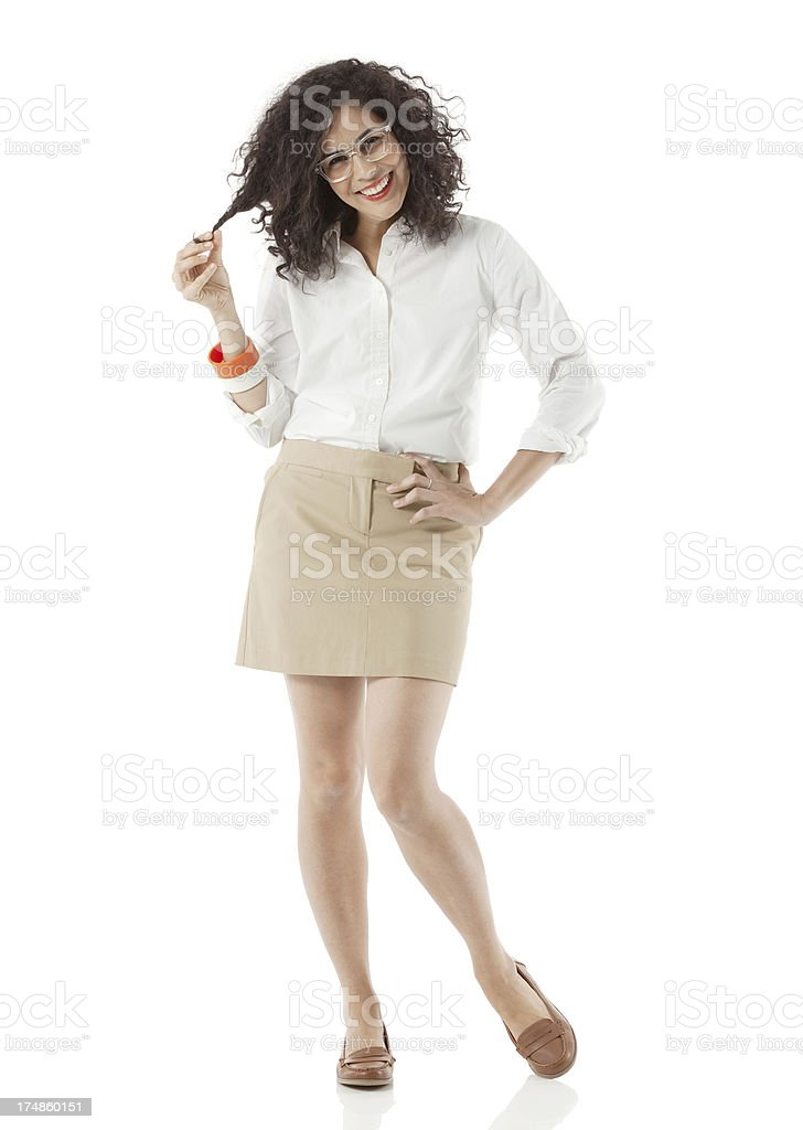 Businesswoman posing with hand on hips royalty-free stock photo