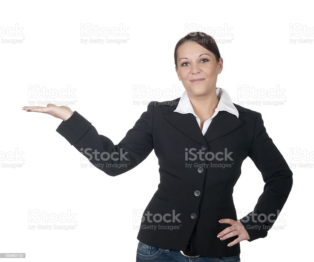 businesswoman presented royalty-free stock photo
