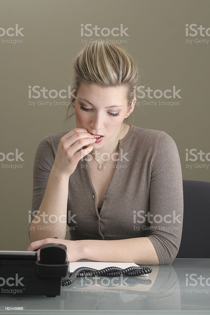 Businesswoman Reading royalty-free stock photo