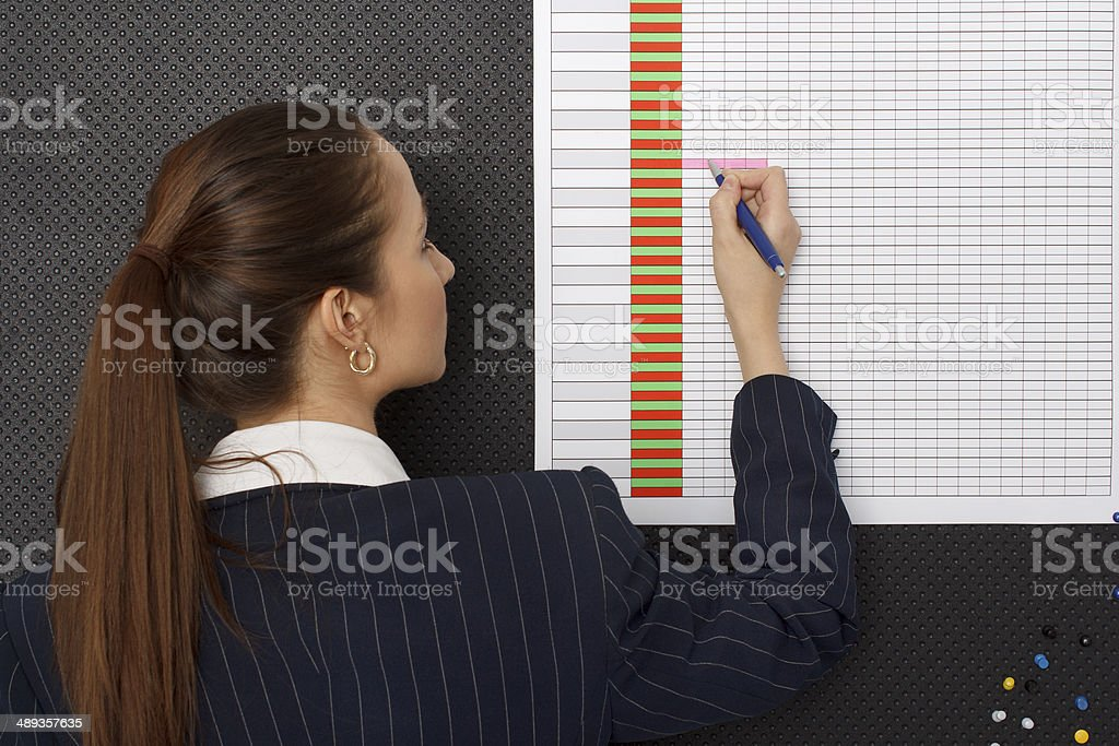Businesswoman schedule at office royalty-free stock photo