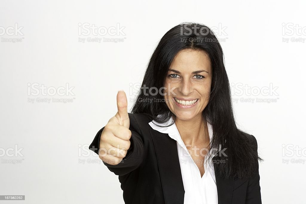 Businesswoman showing thumbs up! royalty-free stock photo