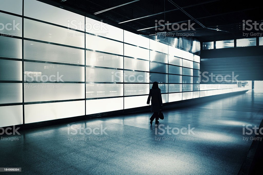 Businesswoman silhouette royalty-free stock photo