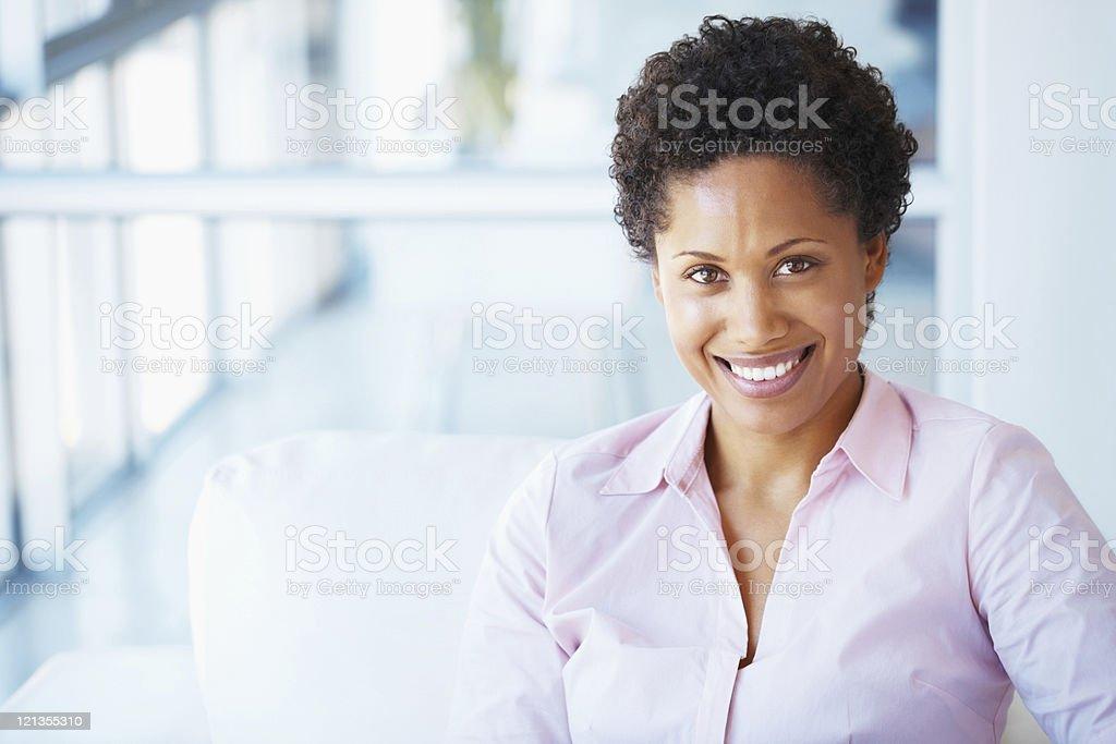 Businesswoman smiling stock photo