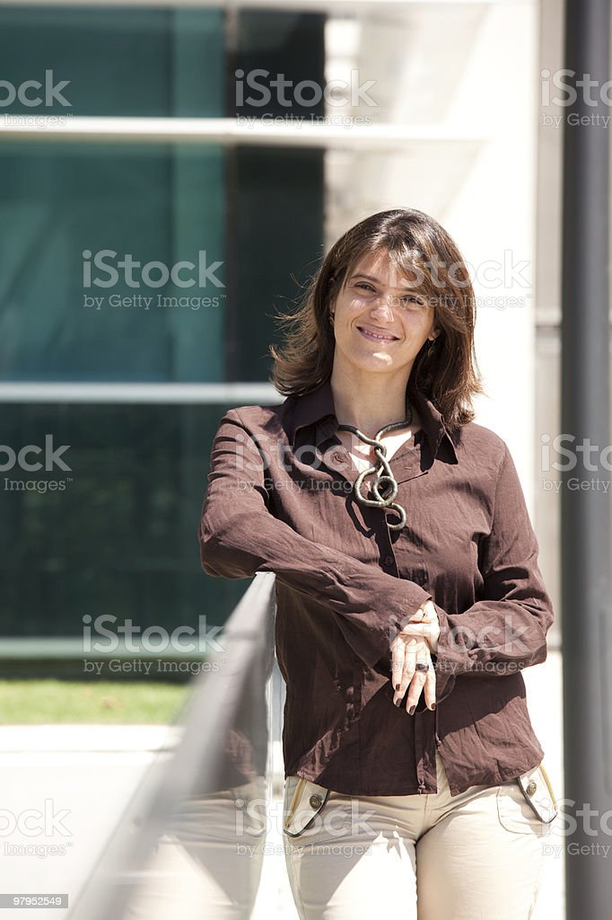 Businesswoman smilling royalty-free stock photo