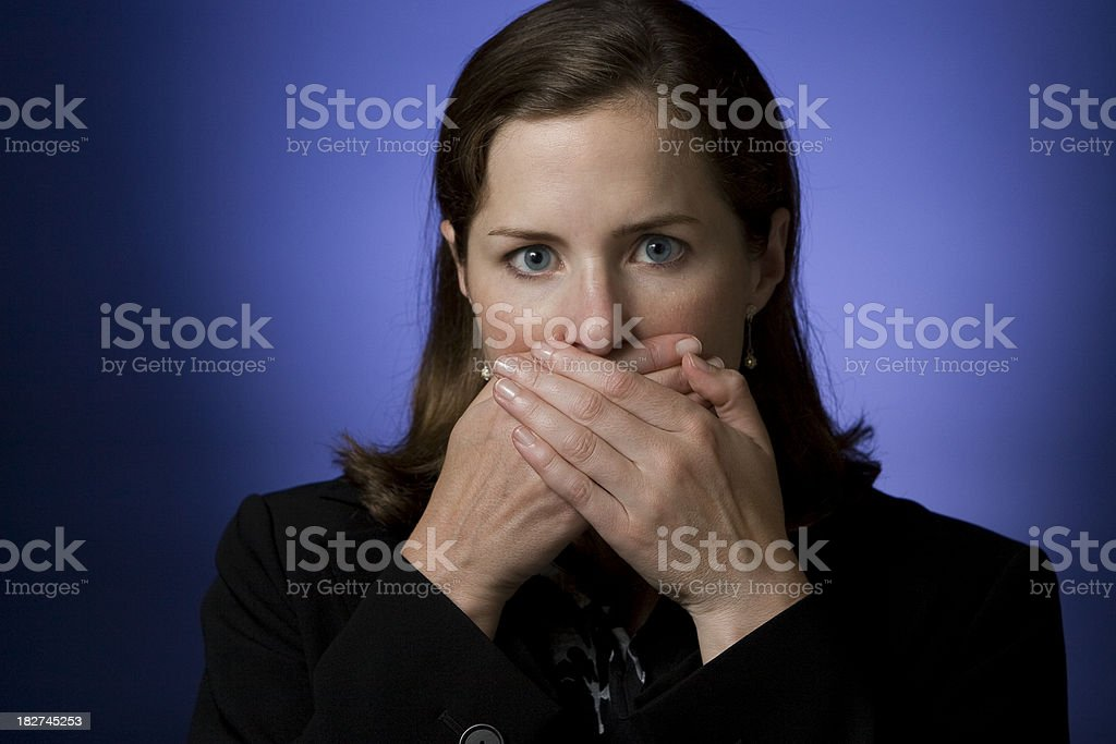 Businesswoman - Speak No Evil stock photo