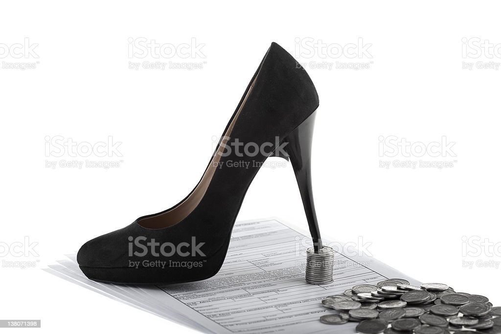 Businesswoman symbol royalty-free stock photo