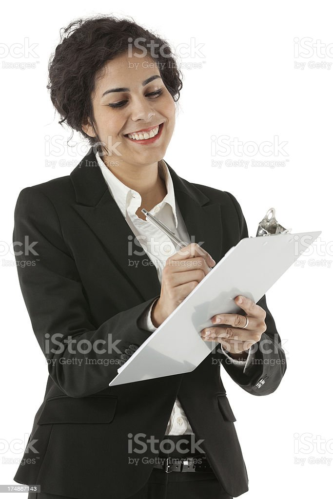 Businesswoman taking notes royalty-free stock photo