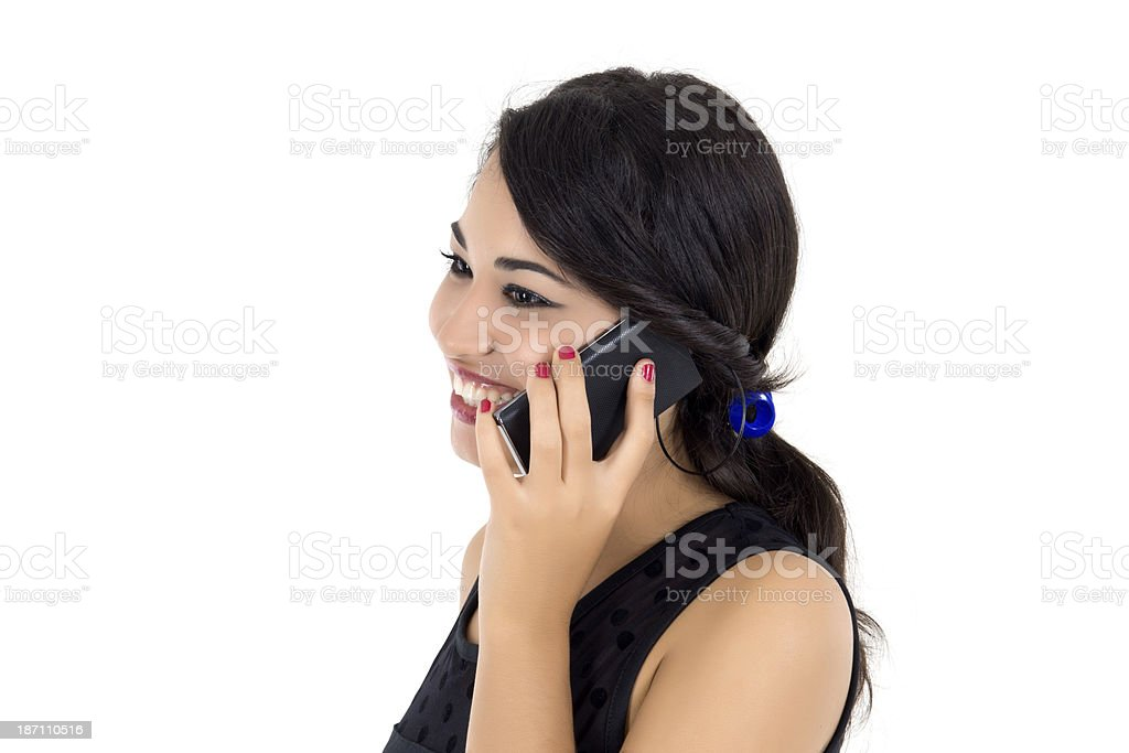 businesswoman talking on the mobile phone royalty-free stock photo