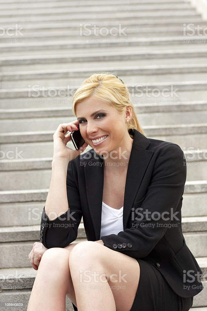 businesswoman talking on the phone royalty-free stock photo