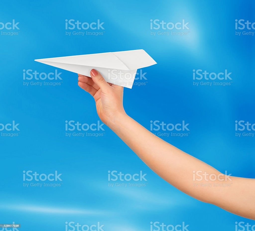 Businesswoman throwing stock photo