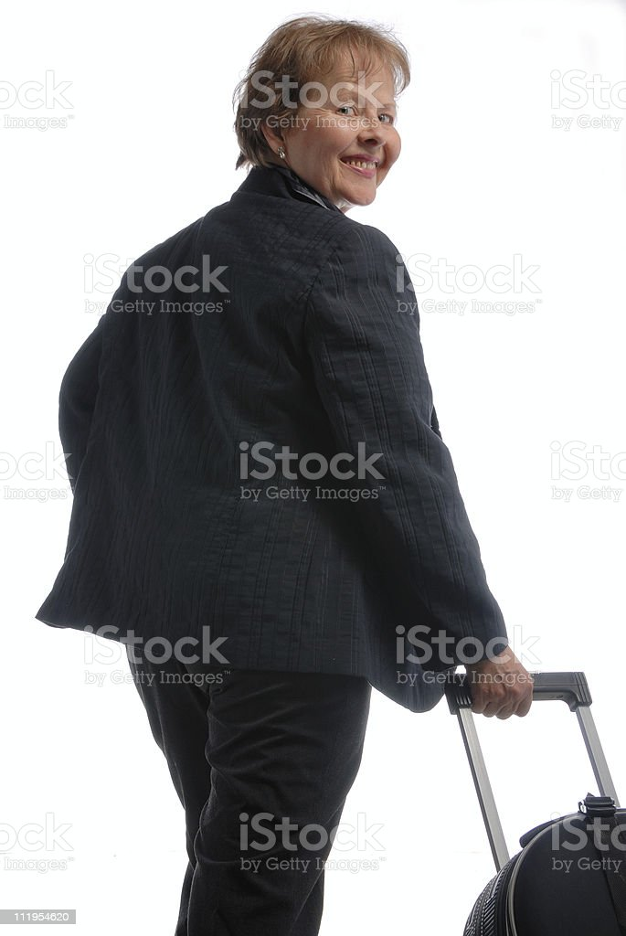 businesswoman travelling royalty-free stock photo