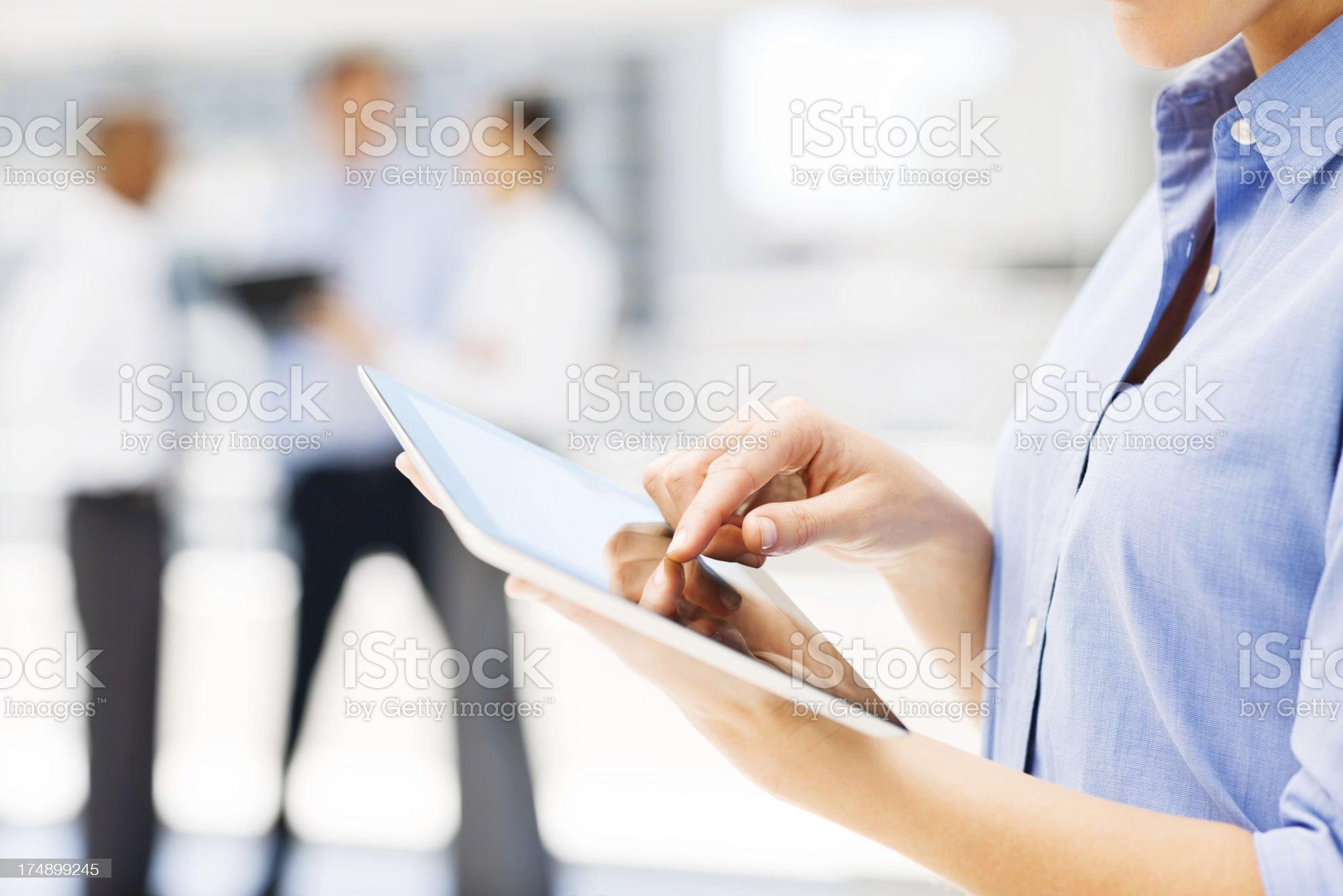 Businesswoman Using Digital Tablet royalty-free stock photo