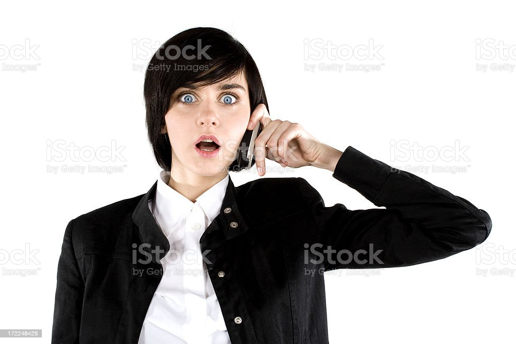 Businesswoman using mobile phone royalty-free stock photo