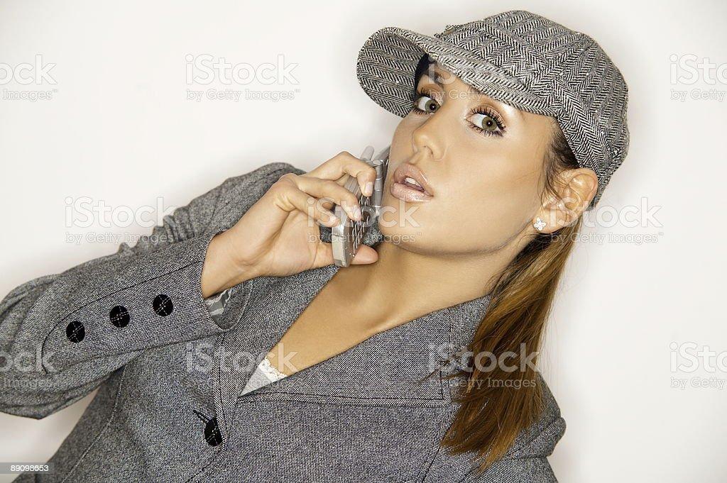 Businesswoman V royalty-free stock photo