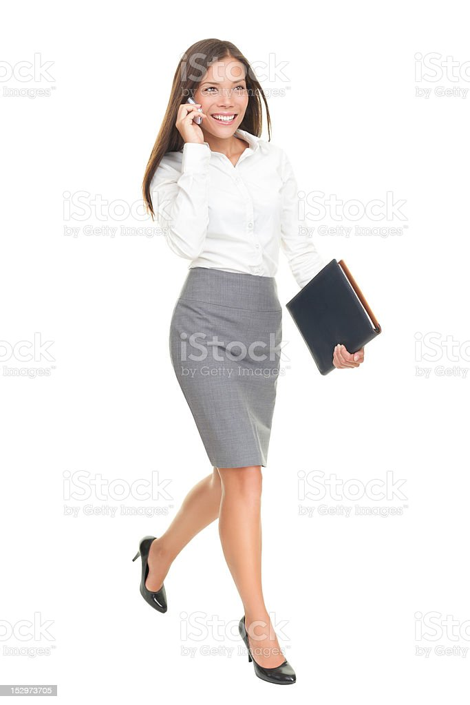 businesswoman walking isolated royalty-free stock photo