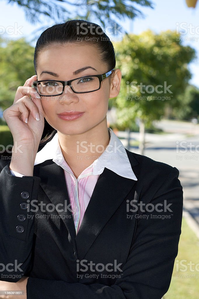 Businesswoman wearing glasses royalty-free stock photo