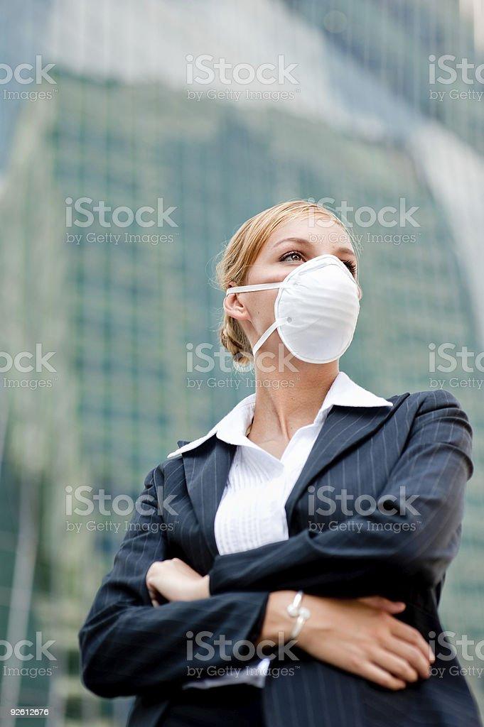 Businesswoman Wearing Mask royalty-free stock photo