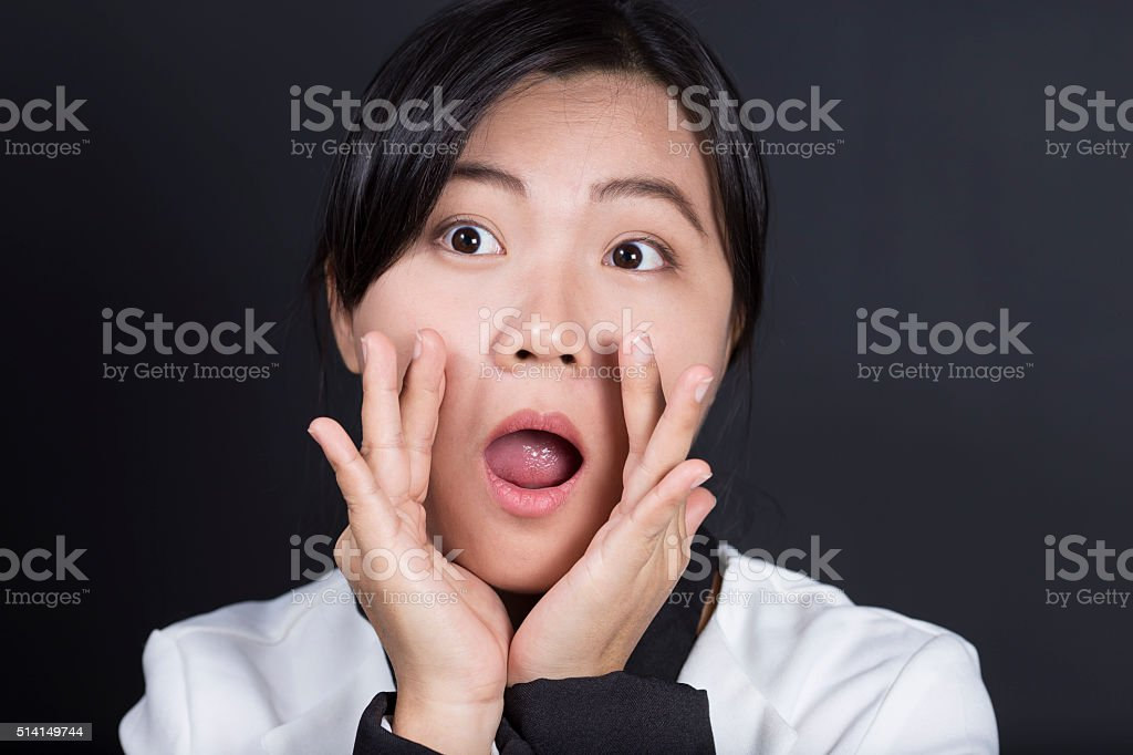 Businesswoman Whispering Secret Gossip stock photo