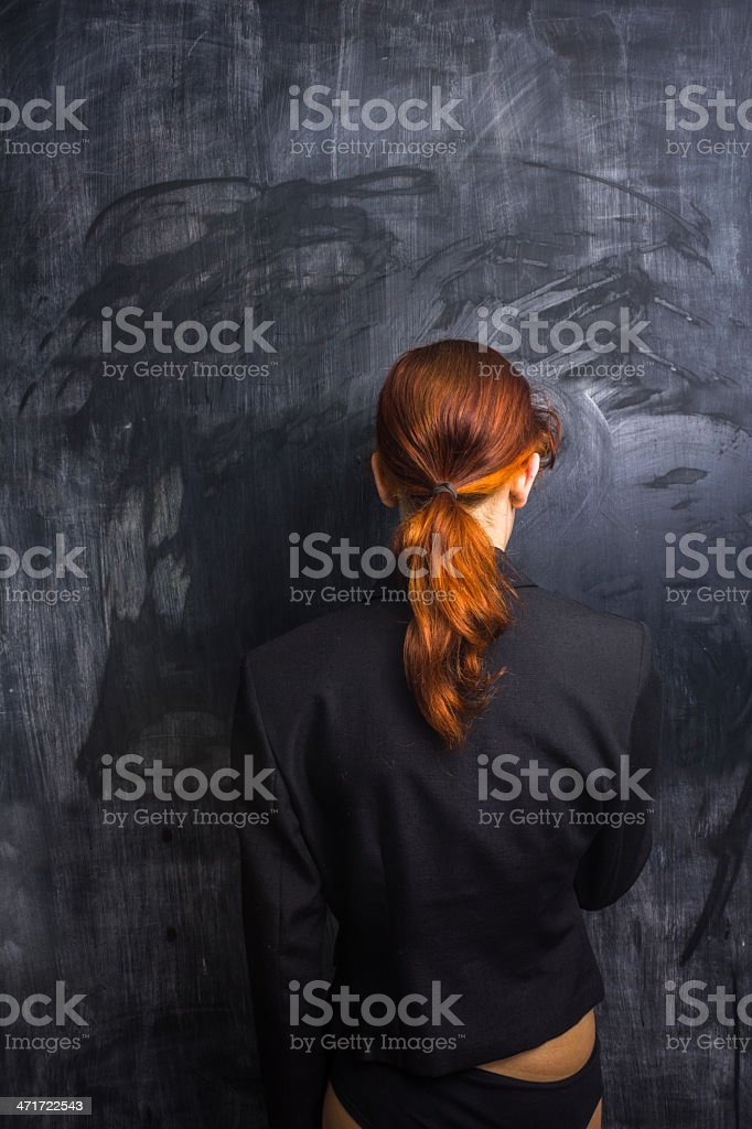 Businesswoman with a clean slate royalty-free stock photo