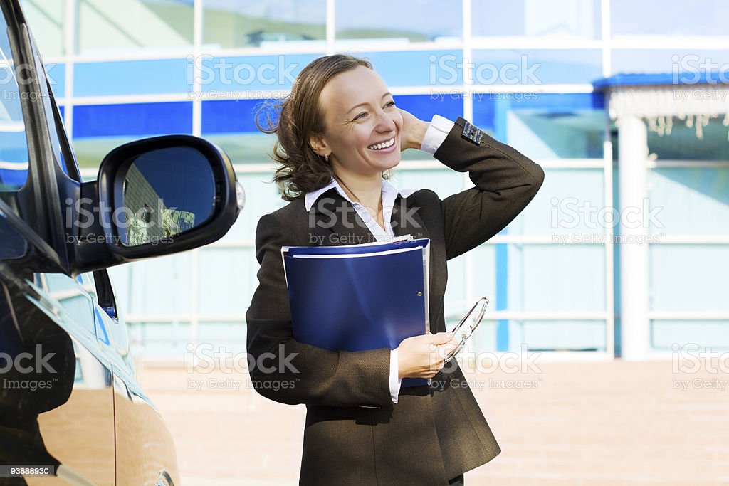 Businesswoman with a folder royalty-free stock photo