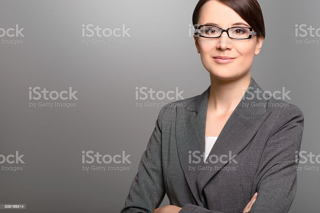 Businesswoman with a friendly expression stock photo
