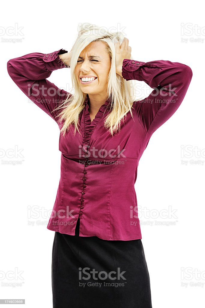 Businesswoman with a Headache royalty-free stock photo