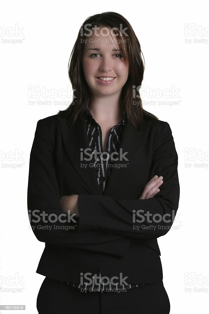 Businesswoman with arms crossed royalty-free stock photo