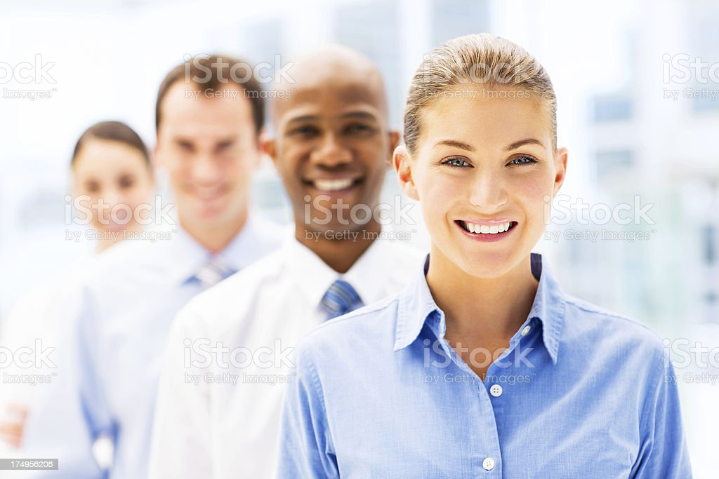 Businesswoman With Colleagues royalty-free stock photo
