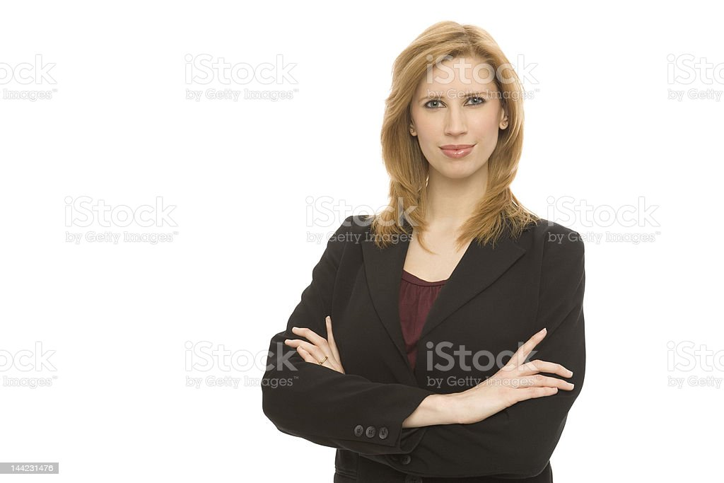Businesswoman with confidence royalty-free stock photo