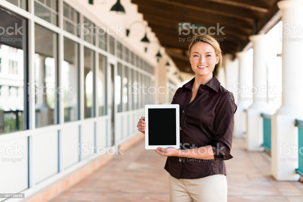 Businesswoman with Digital Tablet Computer royalty-free stock photo