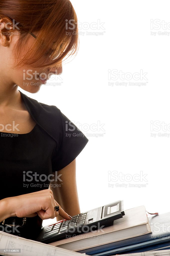 businesswoman with document royalty-free stock photo