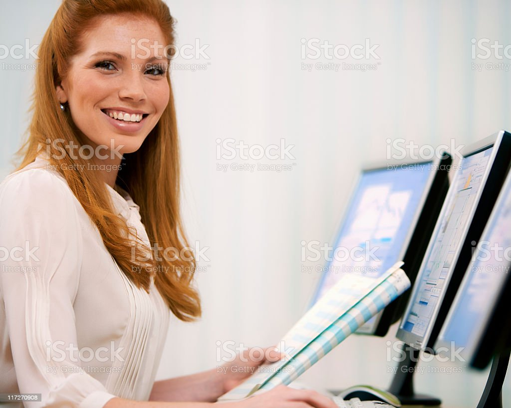 Businesswoman With Documents royalty-free stock photo